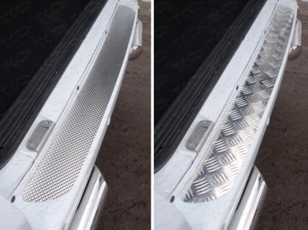 Накладка на задний бампер (лист алюминий квинтет) 2,5 мм UAZ Patriot 2015